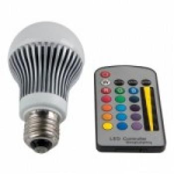 lampada2 Lâmpada Colorida Led com Controle Remoto