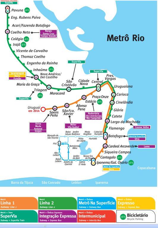 mapa metro rio Metrô Rio de Janeiro Mapa