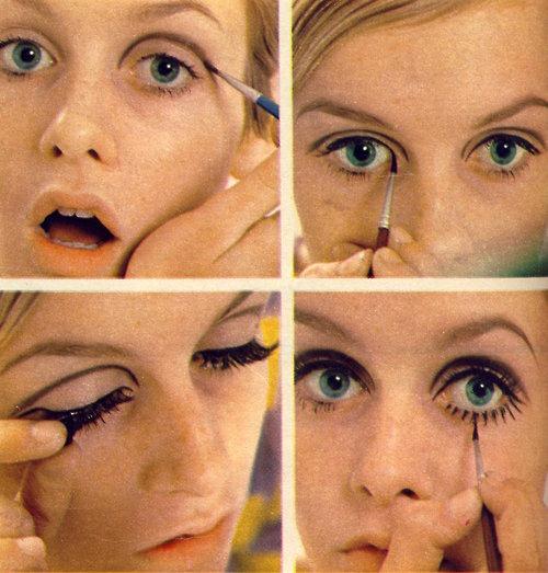 maquiagem olhos puxados twiggy Maquiagem para deixar os olhos puxados