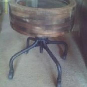 mesa rústica Decoração com Móveis Reciclados