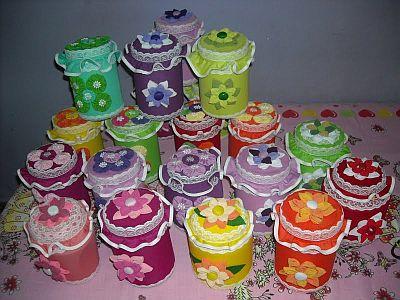 pote2 Decoração em Potes Plásticos