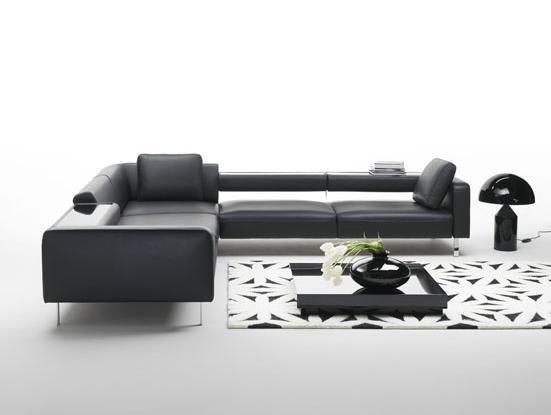 sofa preto2 Modelos de sofás preto