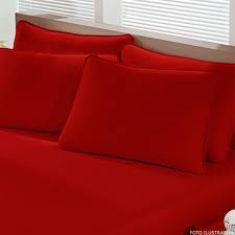 vermelho Lençol de Malha, Jogos de Cama Solteiro, Casal Preços