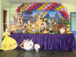 Decoração de festa infantil a bela e a fera Decoração de Festa Infantil a Bela e a Fera