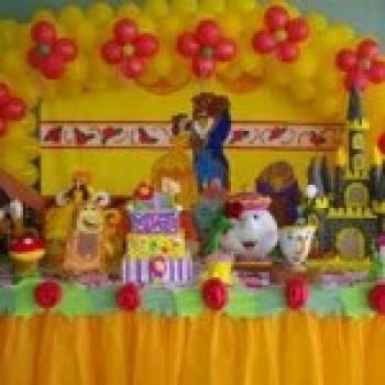 Decoração de festa infantil a bela e a fera1 Decoração de Festa Infantil a Bela e a Fera