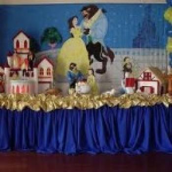 Decoração de festa infantil a bela e a fera2 Decoração de Festa Infantil a Bela e a Fera