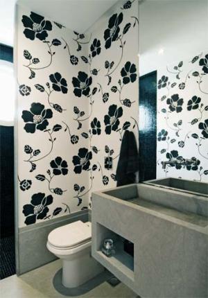 Papel de Parede para Banheiro 1 Papel de Parede para Banheiro, modelos para decorar