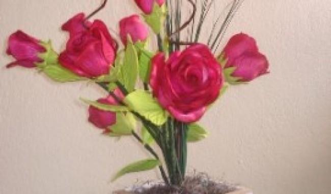 arranjo3 Curso de Flores em EVA RJ