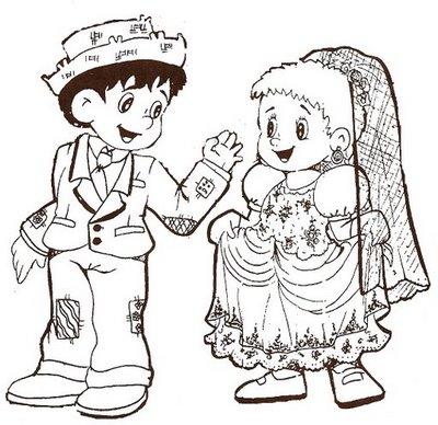 casal caipira 7 793196 Desenhos de festa junina para colorir