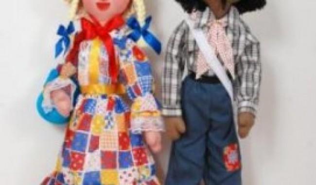 casal de biscuit Festa Junina Bonecos Dicas