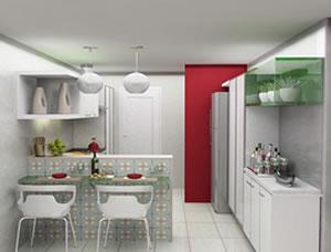 cozinha americana decorada 1 Como Decorar Cozinha Americana