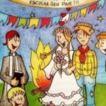 desenho Casamento Caipira Festa Junina