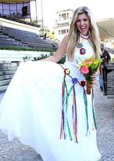 fitas Vestidos para Noiva de Festa Junina