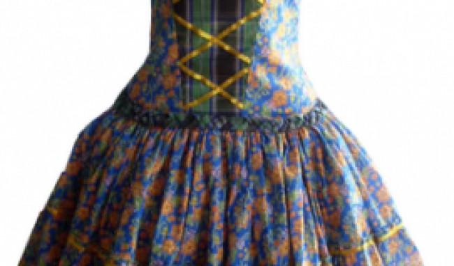 florido Vestido de Festa Junina Fashion