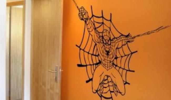 homem aranha adesivo parede Papel de parede do Homem Aranha para quarto infantil
