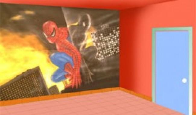 homem aranha papel parede Papel de parede do Homem Aranha para quarto infantil