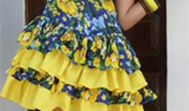 menininha Vestido de Festa Junina Fashion
