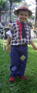 menino Roupas de Festa Junina Infantil