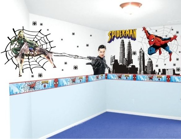 papel parede homem aranha2 Papel de parede do Homem Aranha para quarto infantil