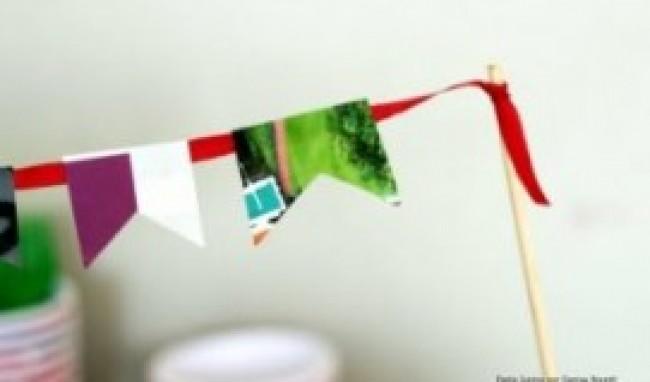 revistas Bandeirinhas de Festa Junina   Como Fazer