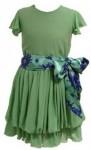 verde com fita 91x150 Modelos de Roupas Estilo Romântico