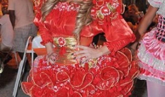 vermelho curto Vestido de Festa Junina Fashion
