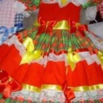 vermelho verde1 Roupas de Festa Junina Feminina