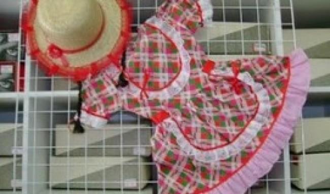 vestido festa junina infantil Roupas infantis para festa junina   modelos e onde comprar