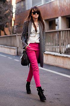 Calça Rosa Como Usar1 Calça Rosa Como Usar
