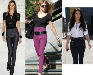 calca cintura alta 2 300x241 Calça Cintura Alta Jeans Modelos