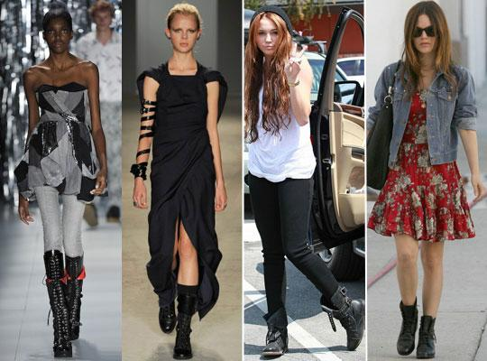 coturno3681 Moda Rock Feminina 2011