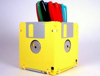 decoração com disquetes 4 Decoração Com Disquetes