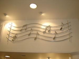 decoração com notas musicais 1 300x225 Decoração Com Notas Musicais