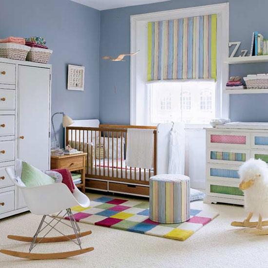 decoração quarto de bebe colorido azul Dicas de Cores para Quartos Infantis