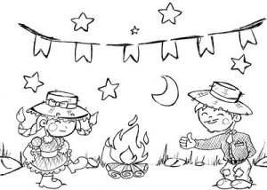 desenho de festa junina colorir gratis junina festa colorir 300x214 Desenhos de São João para Colorir