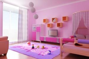 quarto rosa 300x199 Decoração de Quarto Rosa, Dicas